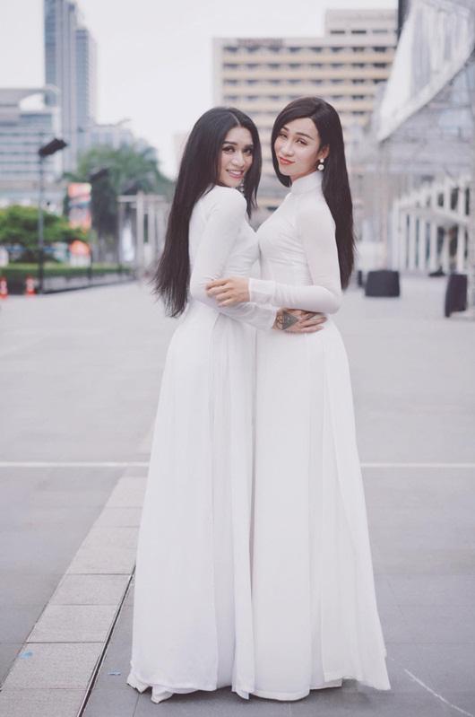 """BB Trần - Hải Triều và những lần diện áo dài đẹp lộng lẫy khiến chị em """"phát hờn"""" - Ảnh 1"""