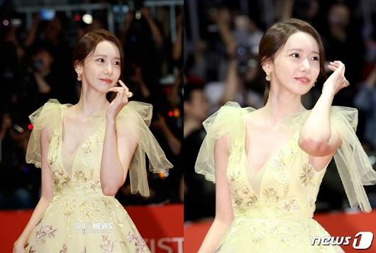 """Nhan sắc cực phẩm khiến """"nữ thần"""" Yoona chiếm spotlight thảm đỏ LHP Busan - Ảnh 4"""