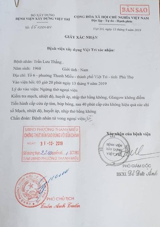 Kiến nghị khởi tố vụ người đàn ông tử vong sau khi đưa về trụ sở công an phường ở Phú Thọ - Ảnh 1