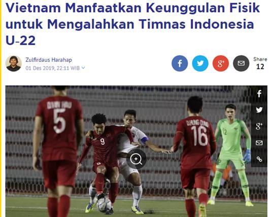 Báo Indonesia chấp nhận thực tế sau trận thua U22 Việt Nam dù dồn toàn lực phòng thủ - Ảnh 1