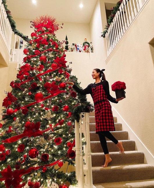 Phạm Hương lần đầu hé lộ toàn bộ căn biệt thự lộng lẫy tại Mỹ mùa Giáng sinh - Ảnh 2