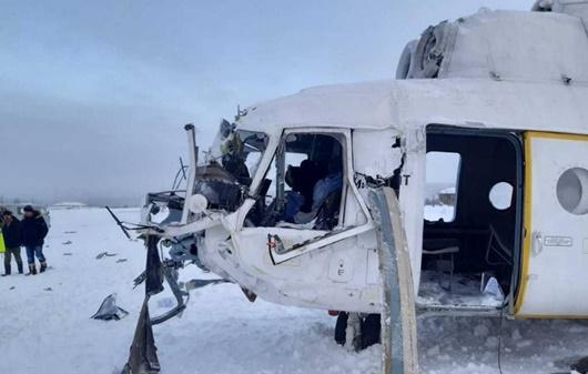 Trực thăng Nga hạ cánh khẩn cấp vì bão tuyết, 15 người bị thương - Ảnh 1