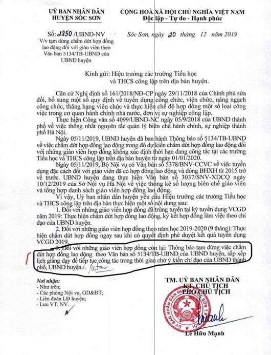 Hà Nội tạm dừng chấm dứt hợp đồng để chờ xét đặc cách: Giáo viên khắc khoải chờ cơ chế - Ảnh 1