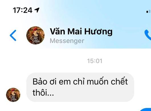 """Fan lo lắng vì dòng tin nhắn của Văn Mai Hương sau khi bị hack camera: """"Em chỉ muốn chết thôi"""" - Ảnh 1"""