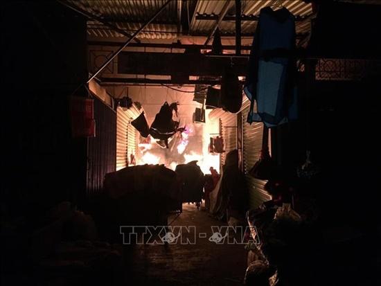 Hải Dương: Cháy chợ Đông Ngô Quyền ngày giáp Tết, thiêu rụi 4 gian hàng - Ảnh 1