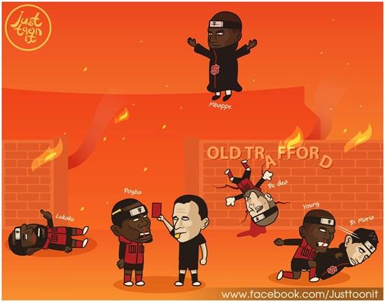 """Ảnh chế ngập mạng xã hội sau thất bại của M.U tại """"thánh địa"""" Old Trafford - Ảnh 6"""