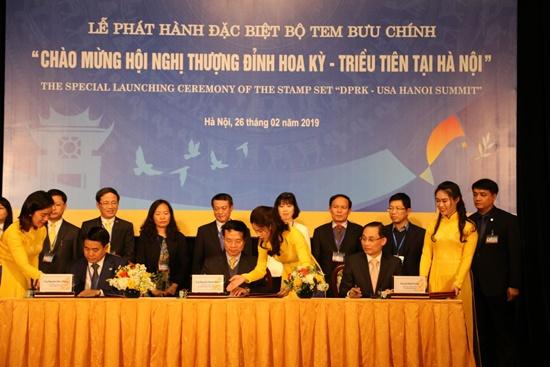 """Phát hành đặc biệt bộ tem """"Chào mừng Hội nghị thượng đỉnh Hoa Kỳ-Triều Tiên tại Hà Nội"""" - Ảnh 1"""