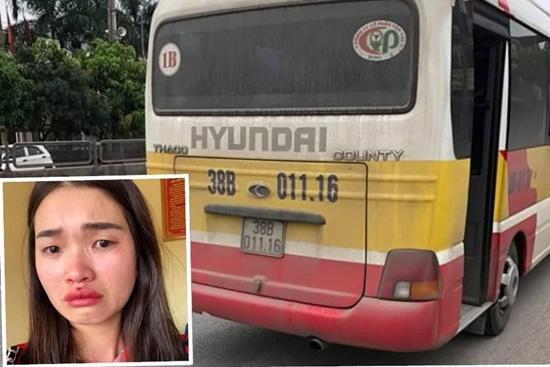"""Tạm giữ xe """"dù"""" giả xe buýt vi phạm giao thông, hành hung nữ hành khách - Ảnh 1"""