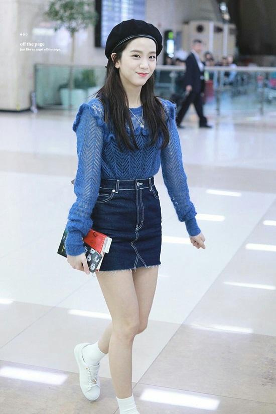 Thời trang sân bay đơn giản nhưng đầy cuốn hút của Jisoo - Black Pink - Ảnh 9