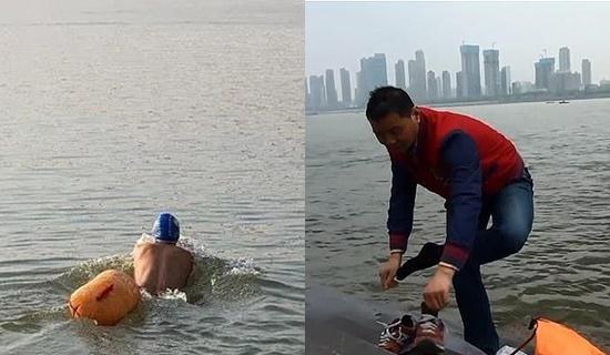 Kỳ lạ CEO Trung Quốc bơi qua sông đi làm suốt 11 năm - Ảnh 1