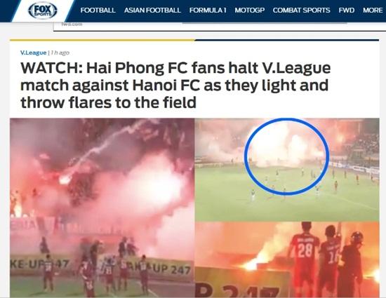 Fox Sport châu Á choáng vì CĐV Hải Phòng liên tục đốt pháo sáng trên sân Hàng Đẫy - Ảnh 2
