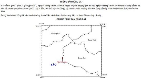 Thanh Hóa: Động đất 3,8 độ richter khiến nhà cửa rung lắc, học sinh hoảng sợ bỏ chạy - Ảnh 1