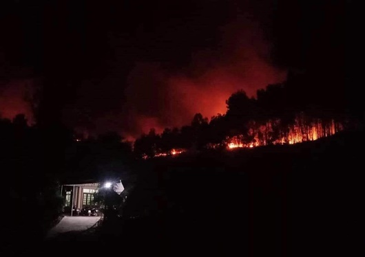 Tiếp tục cháy rừng ở Hà Tĩnh, người dân nhanh chóng di dời, kêu gọi dập lửa - Ảnh 1