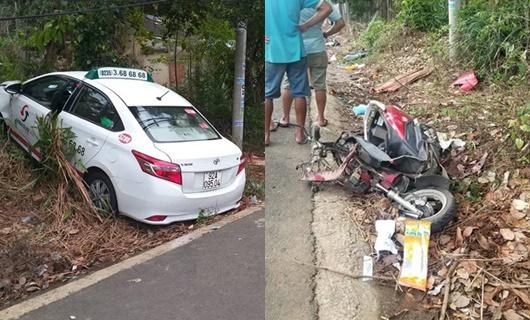 Quảng Nam: Taxi lao sang làn đường đối diện, tông 2 người tử vong - Ảnh 1