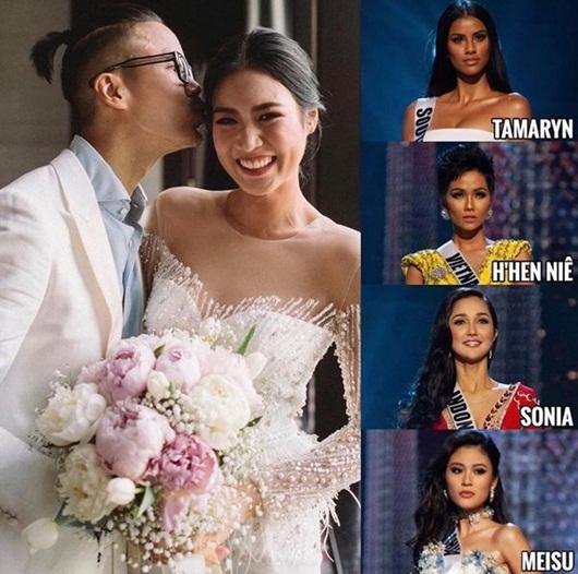 H'Hen Niê ghi tên vào dàn phù dâu đình đám của Hoa hậu Hoàn vũ Thái Lan - Ảnh 2