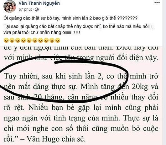 """Thanh Vân Hugo bị lợi dụng hình ảnh, xuyên tạc chuyện """"2 lần sinh nở"""" để quảng cáo - Ảnh 1"""
