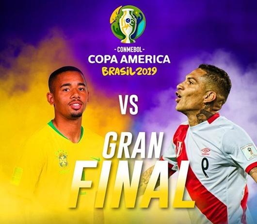 Tin tức thể thao mới - nóng nhất hôm nay 7/7/2019: Lịch thi đấu chung kết Copa America 2019 Brazil - Peru - Ảnh 1