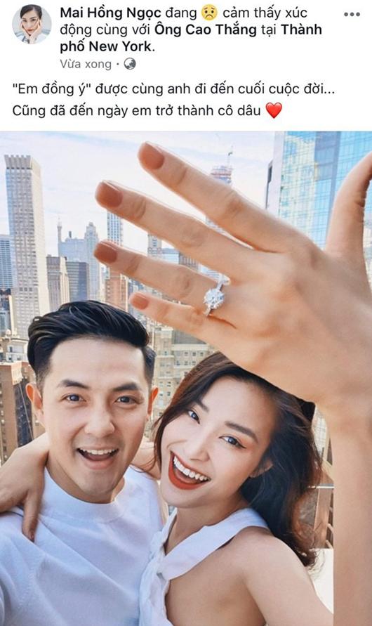 Ông Cao Thắng chính thức cầu hôn Đông Nhi ở New York - Ảnh 1