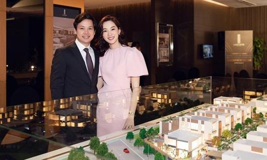 Hoa hậu Đặng Thu Thảo dịu dàng thanh lịch sánh đôi cùng ông xã Trung Tín - Ảnh 1