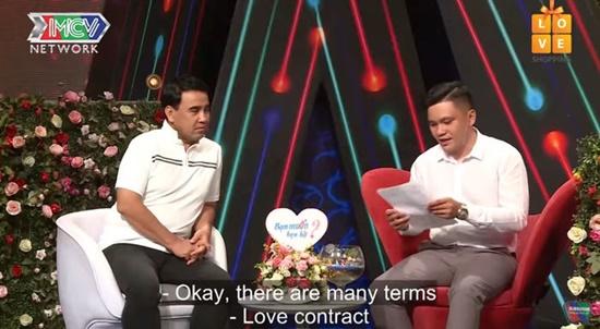 """Soạn thảo hợp đồng tình yêu đến gameshow hẹn hò, chàng trai khiến cô gái """"toát mồ hôi"""" - Ảnh 1"""