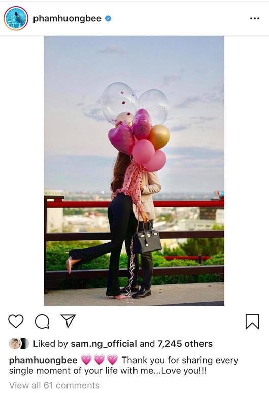 Phạm Hương khoe nhẫn kim cương rực rỡ cùng ảnh ôm hôn bạn trai nhân ngày sinh nhật - Ảnh 2