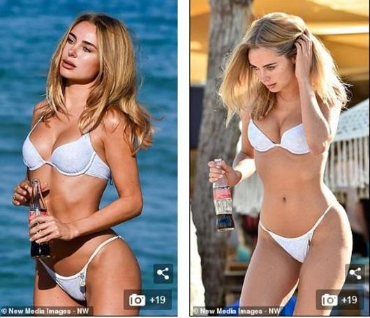 "Siêu mẫu nội y Kimberley Garner ""gợi cảm đến từng centimet"" trên bãi biển - Ảnh 6"