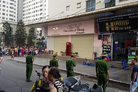 Hiện trường vụ nổ ở chung cư Linh Đàm khiến 4 người bị thương - Ảnh 4