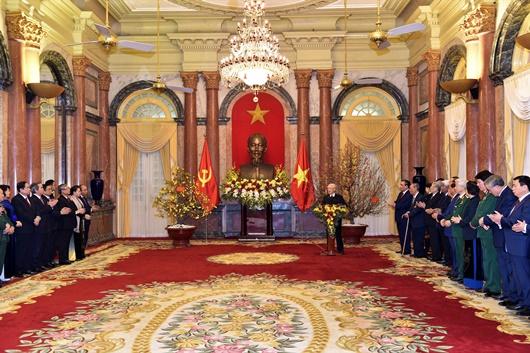 Tổng Bí thư, Chủ tịch nước chúc Tết lãnh đạo, nguyên lãnh đạo Đảng, Nhà nước - Ảnh 2