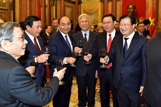 Tổng Bí thư, Chủ tịch nước chúc Tết lãnh đạo, nguyên lãnh đạo Đảng, Nhà nước - Ảnh 4