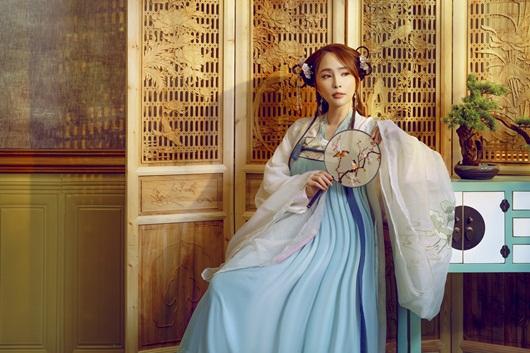 Quỳnh Nga chán mặc gợi cảm, chuyển sang phong cách cổ trang hóa tiên nữ giáng trần - Ảnh 5