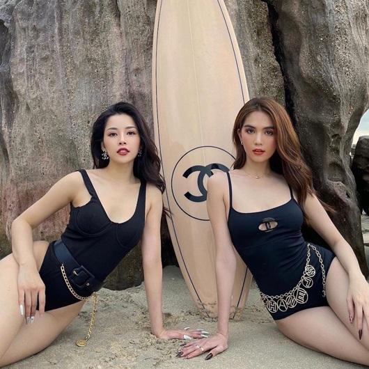 """Cặp """"chị chị em em"""" mới của Vbiz Ngọc Trinh - Chi Pu khoe đường cong bên tấm ván 250 triệu - Ảnh 2"""