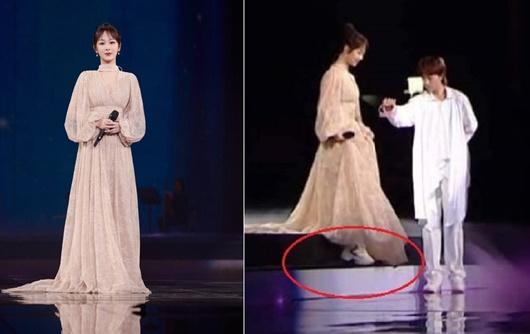 Sao nữ Hoa ngữ đi giày thể thao lên thảm đỏ: Người được khen, kẻ bị chê tơi tả - Ảnh 5