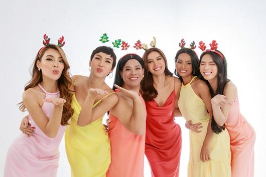 """Minh Tú chụp bộ ảnh """"cây nhà lá vườn"""" cùng dàn người đẹp chuyển giới dịp Giáng sinh - Ảnh 4"""