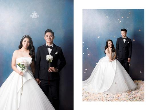 Trọn bộ ảnh cưới đẹp như mơ của trung vệ Bùi Tiến Dũng và cô dâu Khánh Linh - Ảnh 1