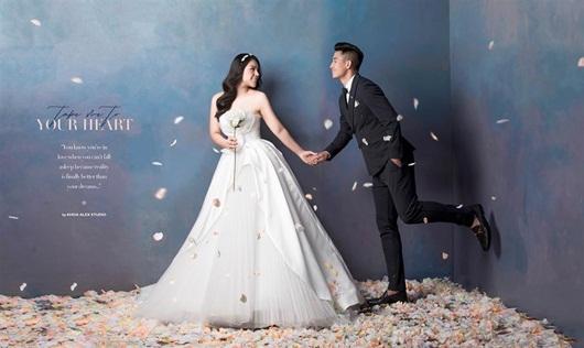 Trọn bộ ảnh cưới đẹp như mơ của trung vệ Bùi Tiến Dũng và cô dâu Khánh Linh - Ảnh 4