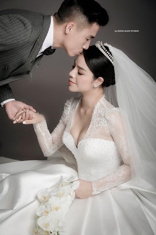 Trọn bộ ảnh cưới đẹp như mơ của trung vệ Bùi Tiến Dũng và cô dâu Khánh Linh - Ảnh 8