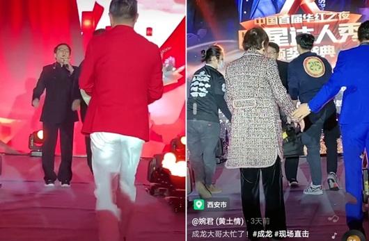 Sau tin đồn qua đời, Thành Long bất ngờ biểu diễn tại sân khấu bình dân - Ảnh 1