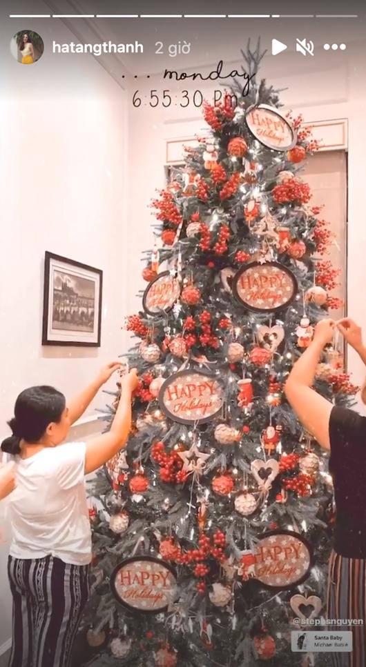 Tăng Thanh Hà hé lộ không gian Giáng sinh vừa ấm áp vừa đúng chất giàu sang quyền quý - Ảnh 1