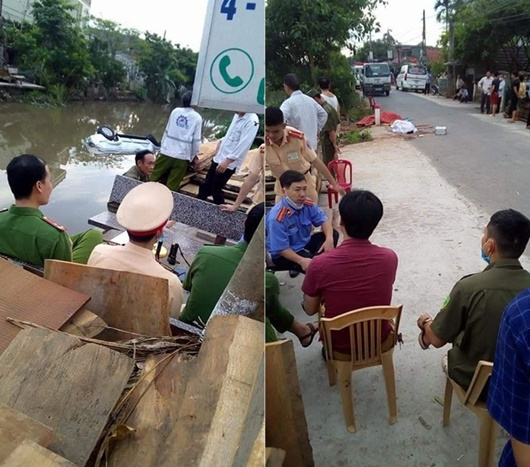 Nam Định: Ô tô 7 chỗ lao xuống nước, 2 người tử vong - Ảnh 1