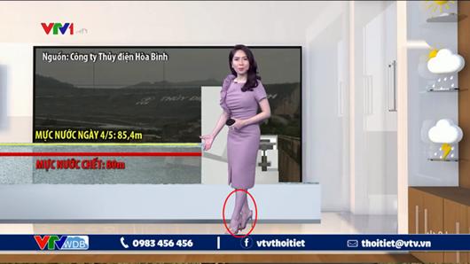 """Lỗi kỹ thuật khiến MC dự báo thời tiết kỳ cựu của VTV """"tím lịm tìm sim"""" trên sóng truyền hình - Ảnh 1"""