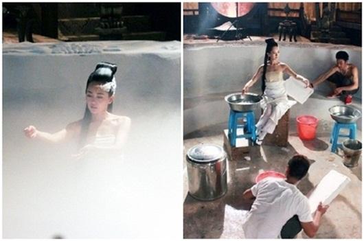 Sự thật sau những cảnh tắm thần tiên, mờ ảo, đẹp lung linh của mỹ nhân Hoa ngữ - Ảnh 5