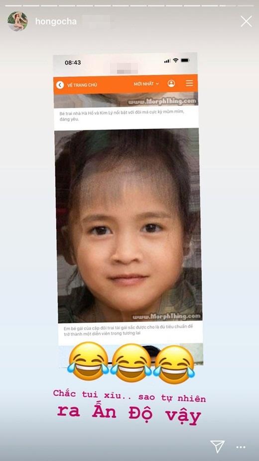 Phản ứng của Hà Hồ và Kim Lý khi thấy ảnh dự đoán mặt nhóc tỳ tương lai - Ảnh 2