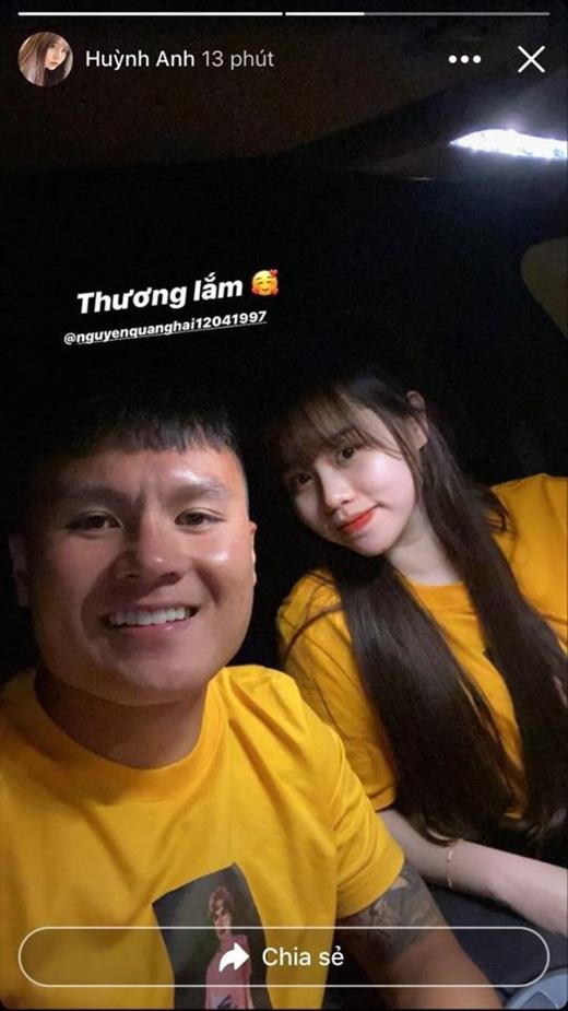 Quang Hải - Huỳnh Anh khoe ảnh ngọt ngào sau trận thắng của CLB Hà Nội - Ảnh 1