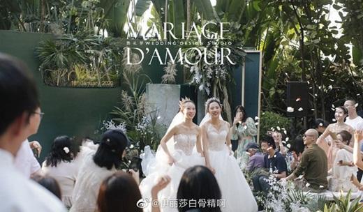 """Lễ cưới đồng tính đẹp như cổ tích của học trò """"Mai Siêu Phong"""" khiến dân mạng Cbiz xôn xao - Ảnh 1"""