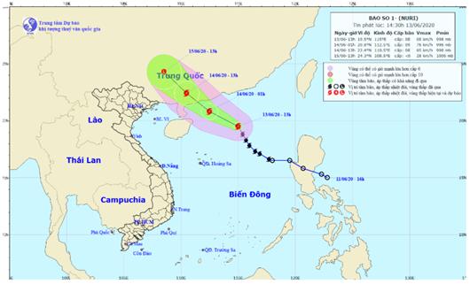 Bão số 1 đang mạnh lên ở Biển Đông, khẩn trương hướng dẫn thuyền bè tránh bão - Ảnh 1