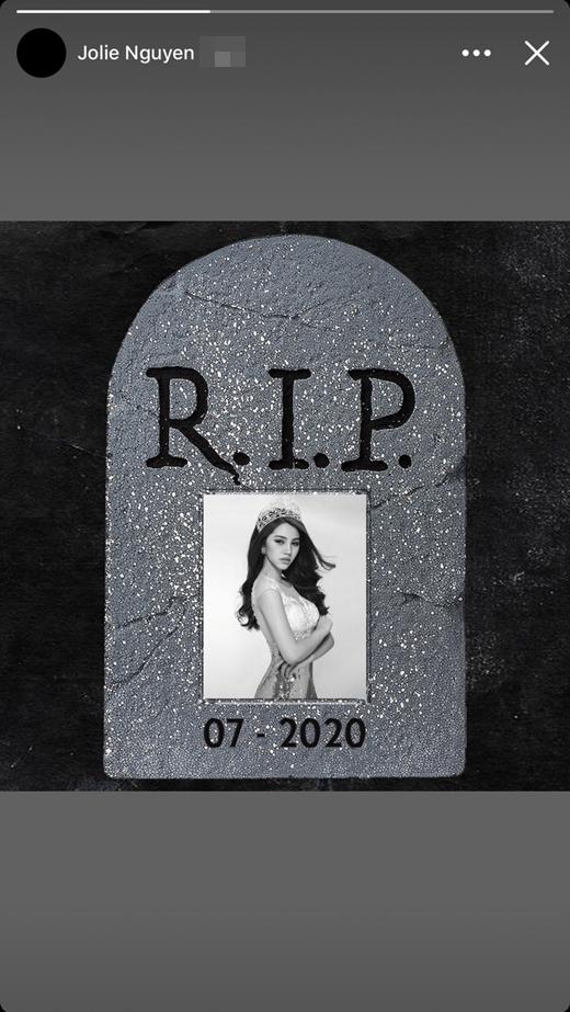 Jolie Nguyễn đổi avatar màu đen và đăng trạng thái gây hoang mang nặng nề - Ảnh 2
