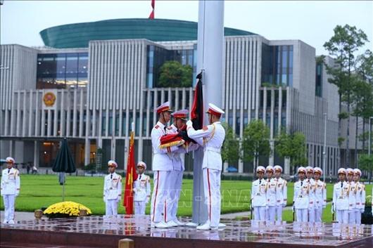 Lễ thượng cờ rủ Quốc tang nguyên Tổng Bí thư Lê Khả Phiêu - Ảnh 5