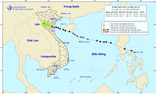 Bão số 2 đã suy yếu thành áp thấp, cảnh báo lũ quét ở các tỉnh miền núi - Ảnh 1