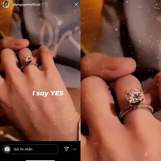 """Xôn xao tin Jolie Nguyễn được cầu hôn bằng nhẫn kim cương """"khủng"""" sau ồn ào scandal - Ảnh 1"""