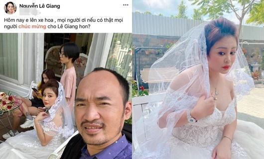 Tin tức giải trí mới nhất ngày 23/8/2020: Lê Giang khoe ảnh diện váy cưới, tuyên bố lên xe hoa - Ảnh 1